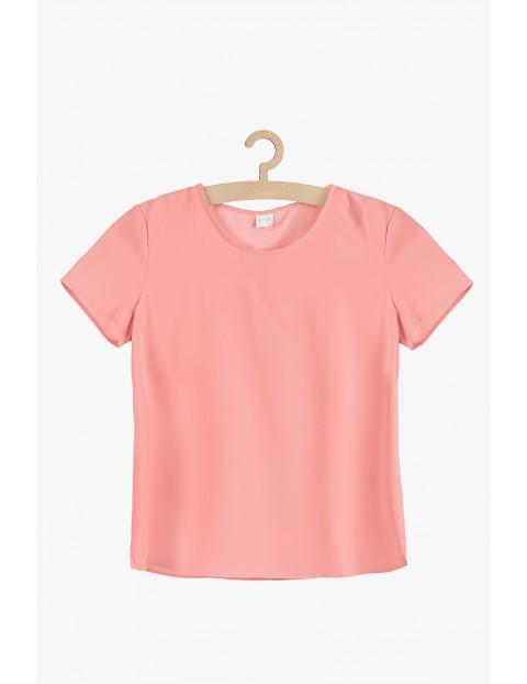 Różowa bluzka damska- krótki rękaw