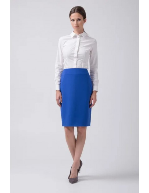 Klasyczna niebieska spódnica damska