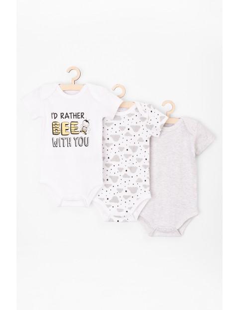 Body niemowlęce 3pak 100% bawełna
