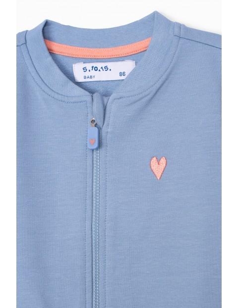 Bluza dresowa niemowlęca rozpinana - niebieska
