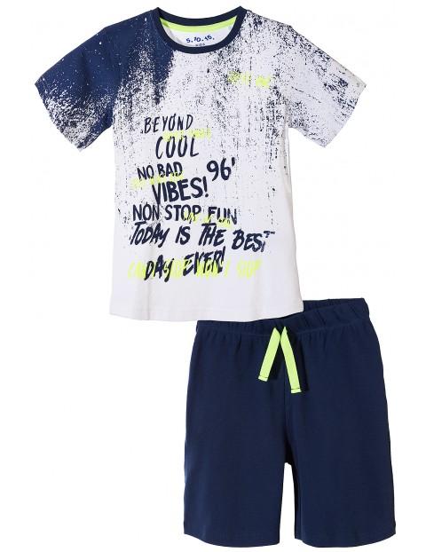 Piżama chłopięca z krótkim rękawem