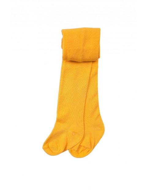 Rajstopy dziewczęce - żółte