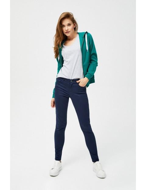 Granatowe spodnie damskie