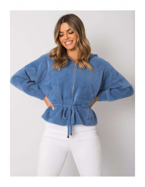 Krótka kurtka damska - niebieska
