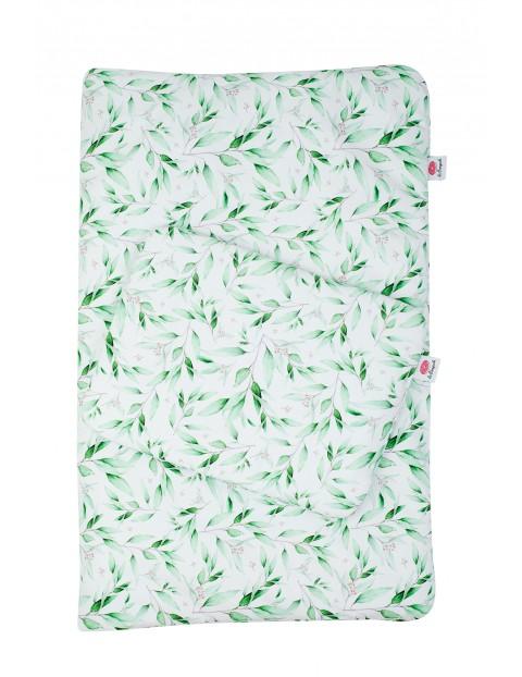 Pościel kołdra i poduszka z bawełny w eukaliptusy z wypełnieniem antyalergicznym - 135x100cm