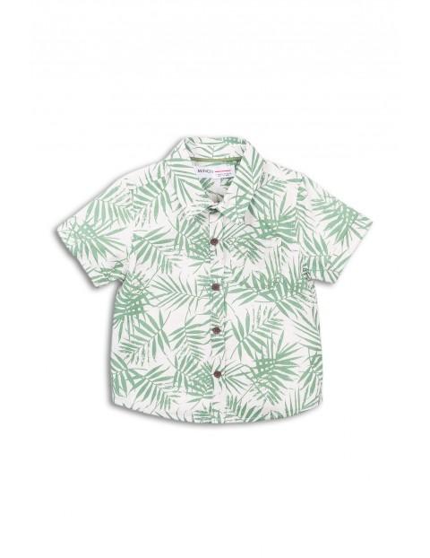 Koszula z krótkim rękawem w liście