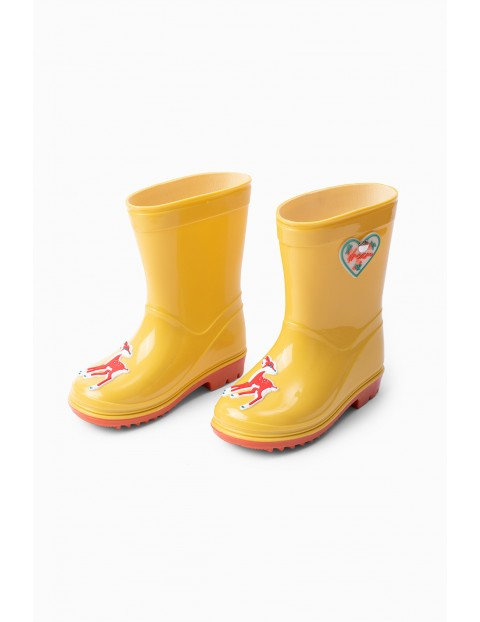 Żółte kalosze dla dziecka - Sarenki