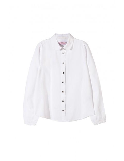 Biała koszula dziewczęca 4J3402