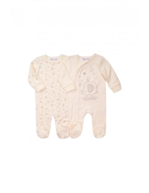 2 pak pajace niemowlęce bawełniane- wyprawka