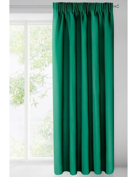 Zasłona jednokolorowa zaciemniająca - zielona - 135x270cm