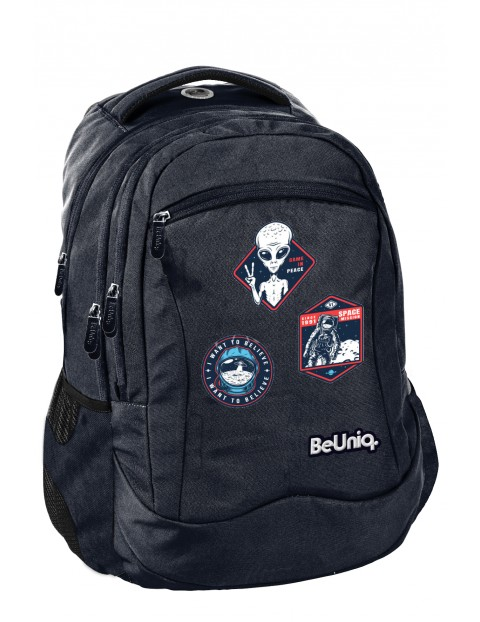 Plecak szkolny UFO, granatowy