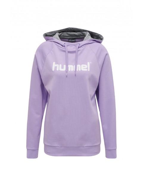 Bluza dresowa damska z kapturem Hummel fioletowa