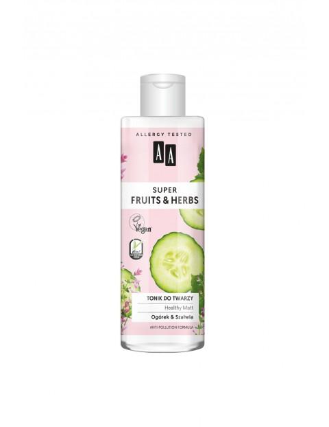 AA Super Fruits&Herbs tonik do twarzy healthy matt 200 ml