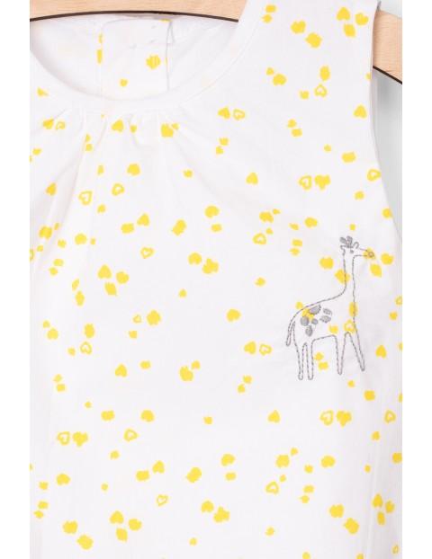 Body dziewczęce białe w żółte plamki