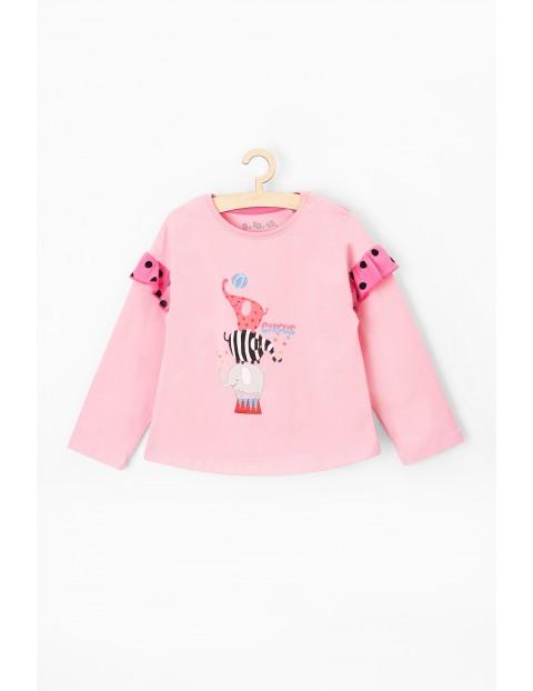 Bluzka dla niemowlaka- różowa z  długim rękawem