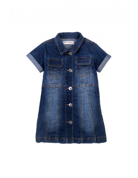 Sukienka dziewczęca jeansowa - niebieska