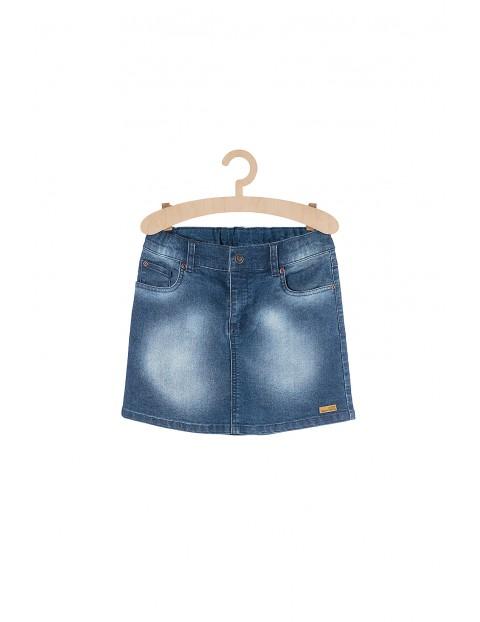 Spódnica jeansowa niebieska z przetarciami