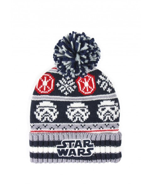Czapka chłopięca zimowa- Star Wars rozm 48/50