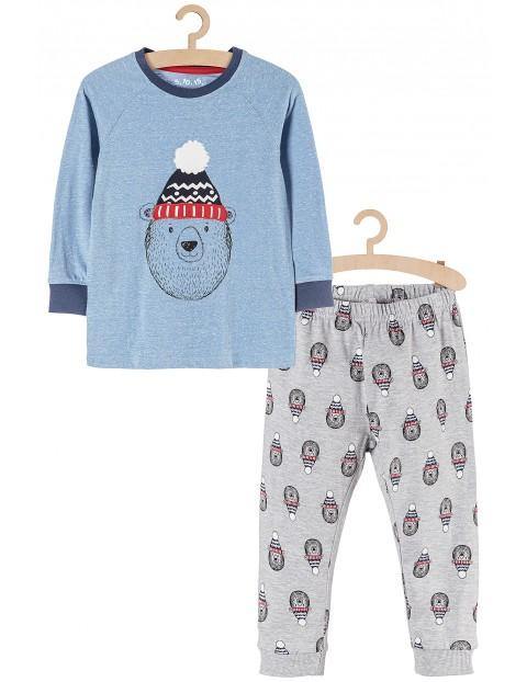 Piżama dla chłopca- niebieska z misiem