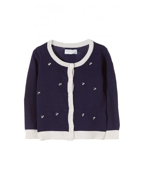 Granatowy sweter dziewczęcy