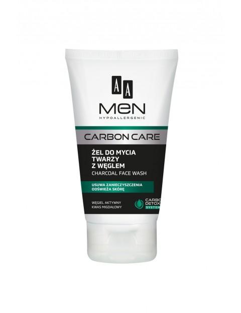 AA Men Carbon Care Żel do mycia twarzy z węglem 150 ml