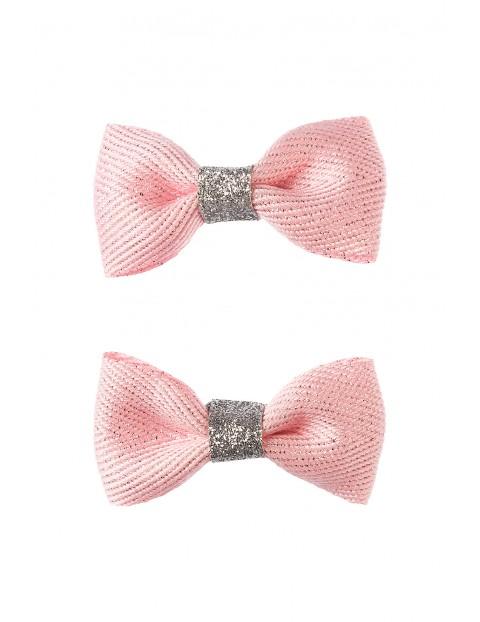Spinki do włosów- różowe kokardki 2szt