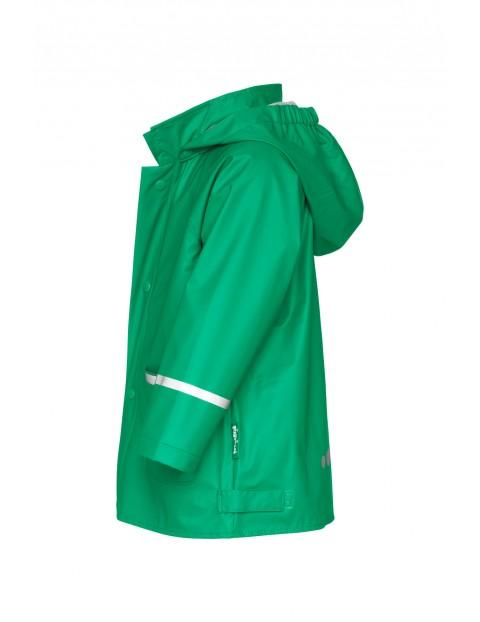 Kurtka przeciwdeszczowa z odblaskami - zielona