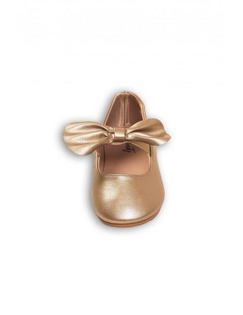 Buty dla dziewczynki- złote baleriny