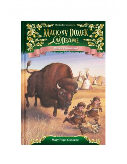 Magiczny domek na drzewie. Ranek z bizonami