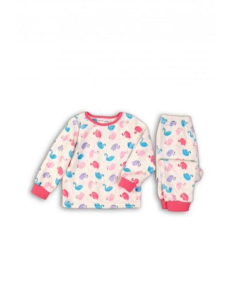 Piżama niemowlęca w kolorowe łabędzie