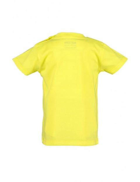 Koszulka chłopięca żółta z autkami