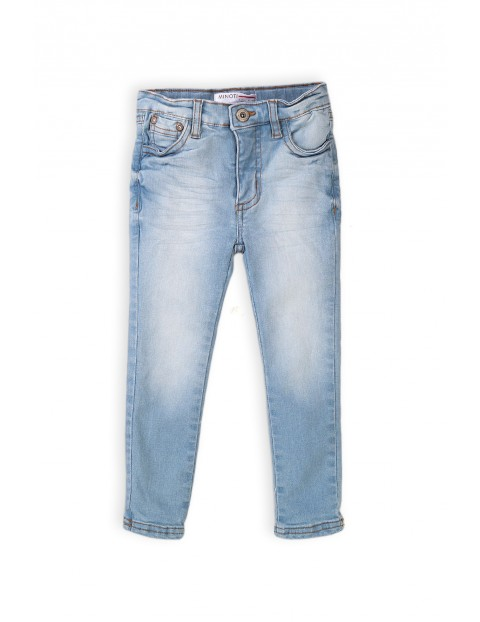 Denimowe spodnie jeansowe dla dziewczynki - niebieskie
