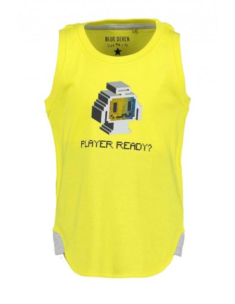 Koszulka chłopięca żółta z nadrukiem