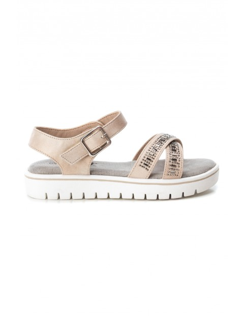 Sandały dla dziewczynki beżowe