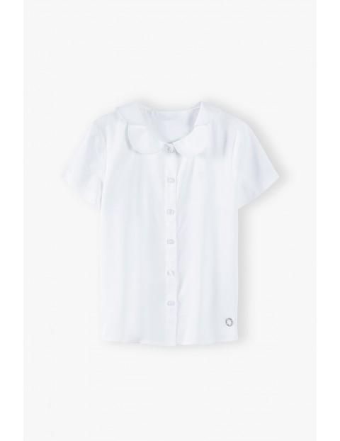 Biała elegancka koszula dziewczęca z wiskozy