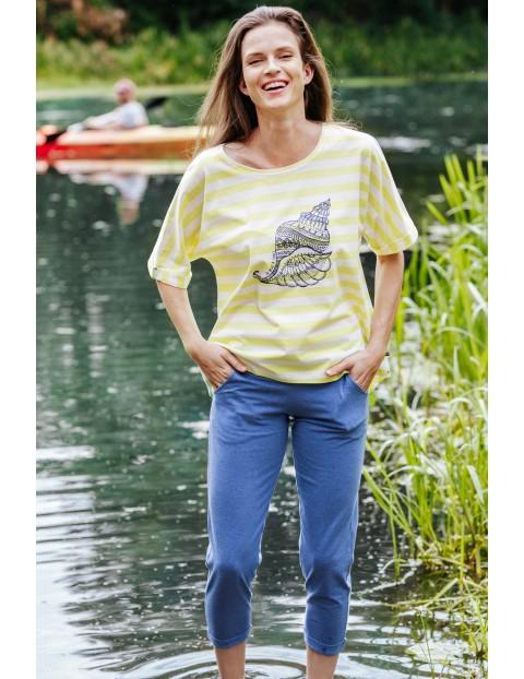 Rekreacyjny bawełniany komplet - koszulka i spodnie