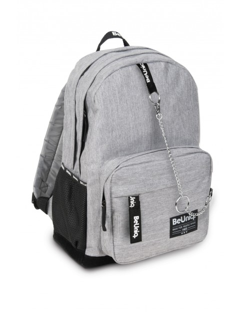 Szary plecak dwukomorowy