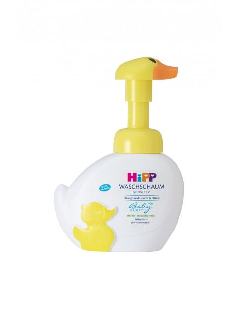 HiPP Babysanft Sensitive Pianka-kaczuszka do mycia twarzy i rąk od 1. dnia życia 250 ml