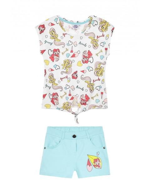 Komplet dziewczęcy Pony- t-shirt i spodenki