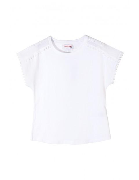 Elegancki biały t-shirt dla dziewczynki