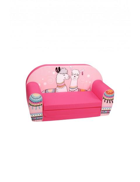 Rozkładana piankowa sofa dla dziewczynki Delsit Lamy