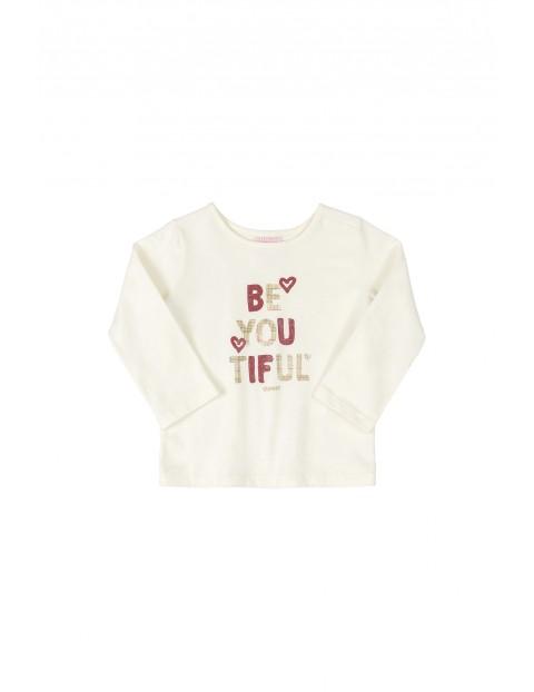 Bluzka niemowlęca z napisem - beżowa