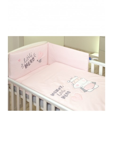 Pościel dla dzieci Amy 3-elementowa Hero Pink 135x100 cm