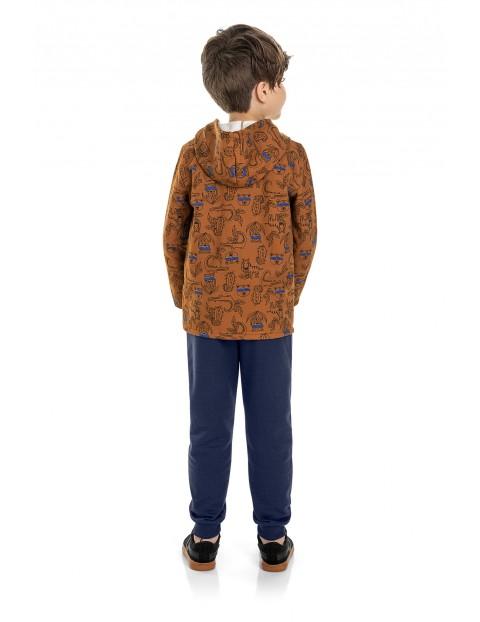 Komplet chłopięcy- bluza z kapturem + spodnie dresowe