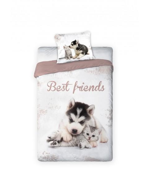 Pościel bawełniana Best Friends 140x200+70x80cm