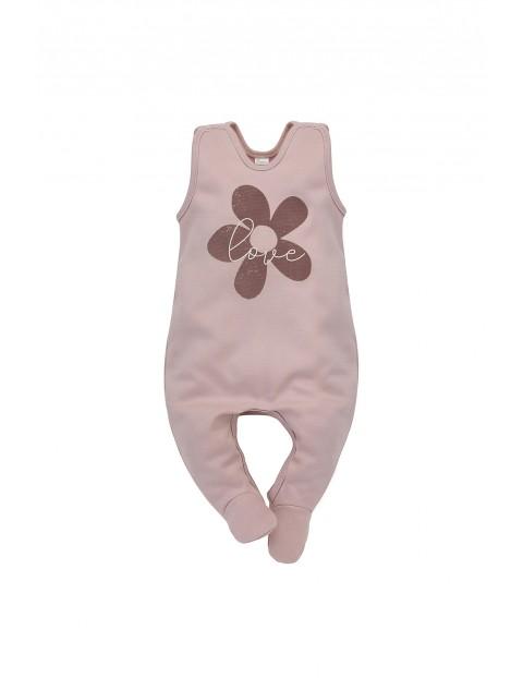 Śpiochy niemowlęce różowe - 100% bawełna