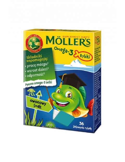 Möller's Omega-3 Rybki - żelki owocowe wzmacniające odporność 36szt