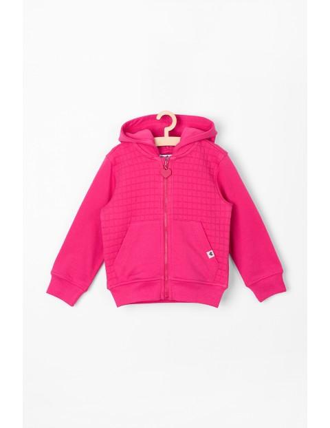 Bluza dresowa niemowlęca - różowa pikowana