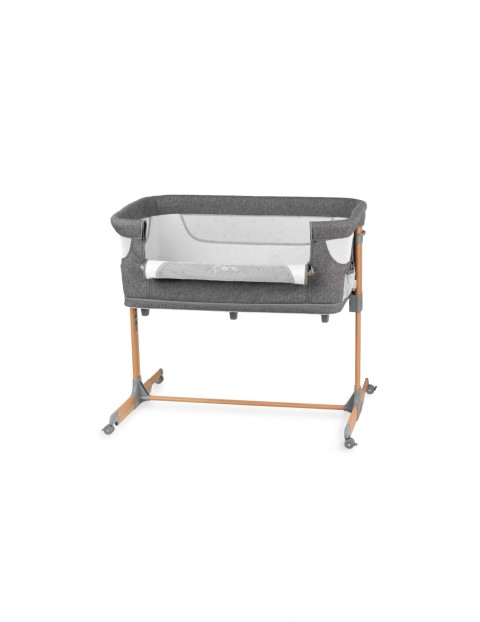 MoMi Smart Bed łóżeczko dostawne 4w1 szare do 15kg
