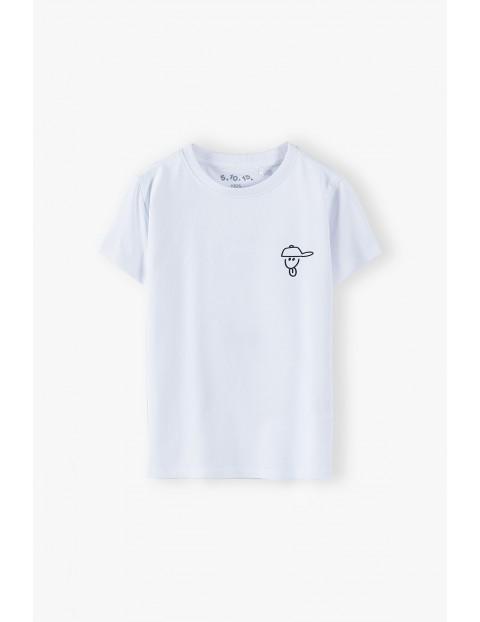 T-shirt chłopięcy bawełniany biały